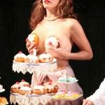 Kelly Brook topless on stage -2-