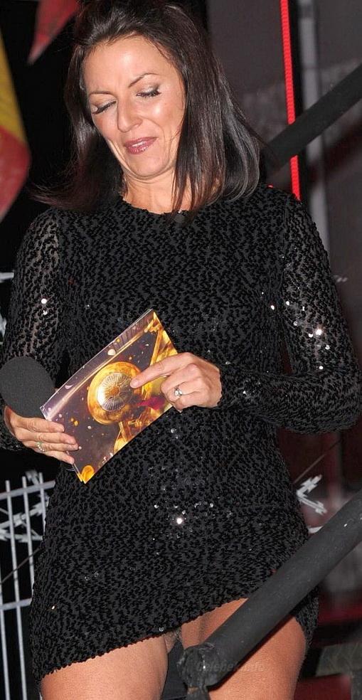 Davina McCall Pubic Hair Upskirt -1-